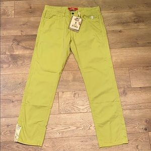NWT $158 Jaggy brand yellow jeans  Brooks Brothers